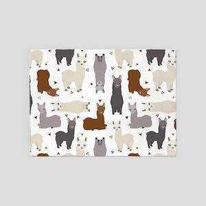 Alpaca Posse Pattern 5'x7'Area Rug