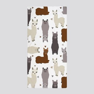 Alpaca Posse Pattern Beach Towel