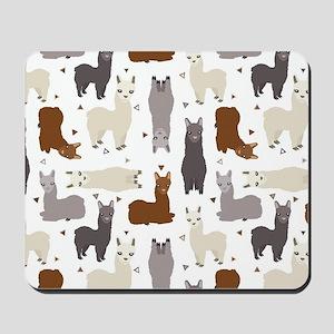 Alpaca Posse Pattern Mousepad