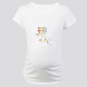 LGBT Pride Tribal Dance Maternity T-Shirt