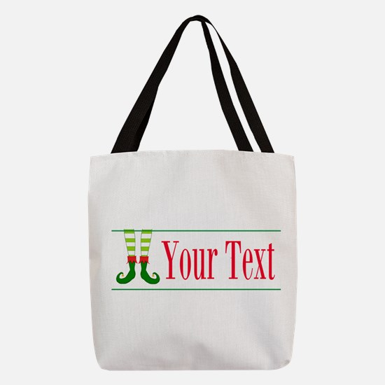 Personalizable Elf Feet Polyester Tote Bag