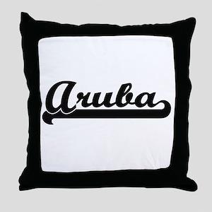Aruba Classic Retro Design Throw Pillow