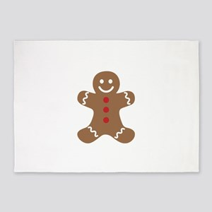 Gingerbread Man 5'x7'Area Rug