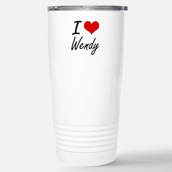 I Love Wendy artistic d Stainless Steel Travel Mug