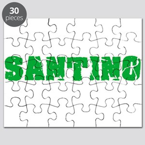 Santino Name Weathered Green Design Puzzle
