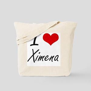 I Love Ximena artistic design Tote Bag