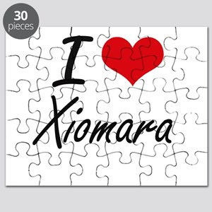 I Love Xiomara artistic design Puzzle