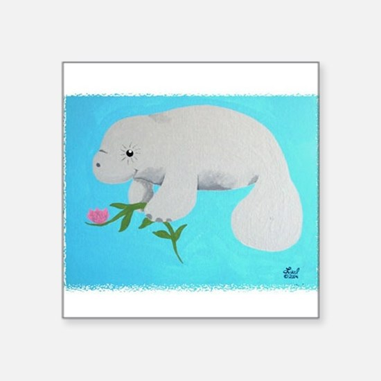 "Unique Marine mammals Square Sticker 3"" x 3"""