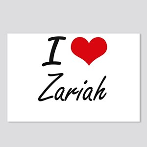 I Love Zariah artistic de Postcards (Package of 8)
