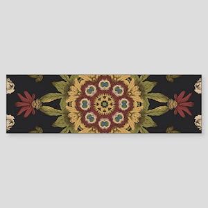 hipster vintage floral mandala Bumper Sticker