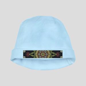 hipster vintage floral mandala baby hat
