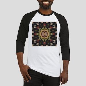 hipster vintage floral mandala Baseball Jersey