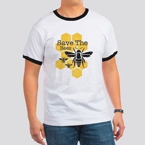 Honeycomb Save The Bees Ringer T
