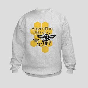 Honeycomb Save The Bees Kids Sweatshirt