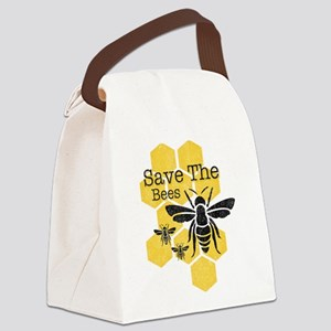 Honeycomb Save The Bees Canvas Lunch Bag