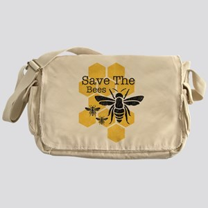 Honeycomb Save The Bees Messenger Bag