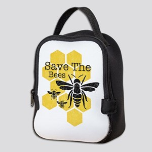 Honeycomb Save The Bees Neoprene Lunch Bag