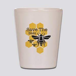 Honeycomb Save The Bees Shot Glass