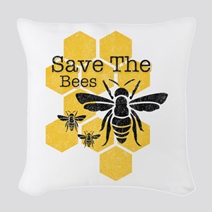Honeycomb Save The Bees Woven Throw Pillow