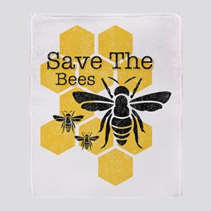 Honeycomb Save The Bees Throw Blanket