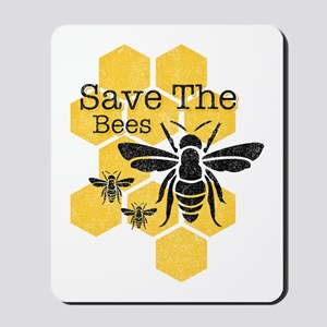 Honeycomb Save The Bees Mousepad