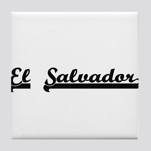 El Salvador Classic Retro Design Tile Coaster