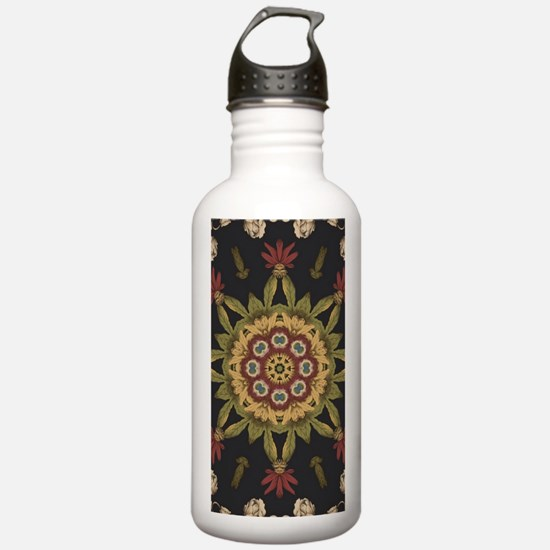hipster vintage floral Water Bottle