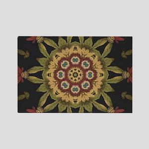 hipster vintage floral mandala Magnets