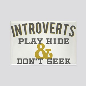 Introverts Hide and Don't Seek Rectangle Magnet