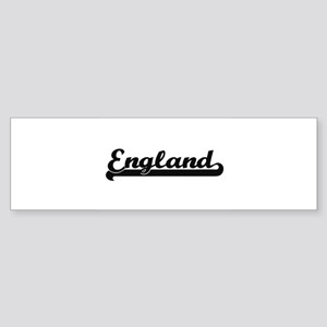 England Classic Retro Design Bumper Sticker