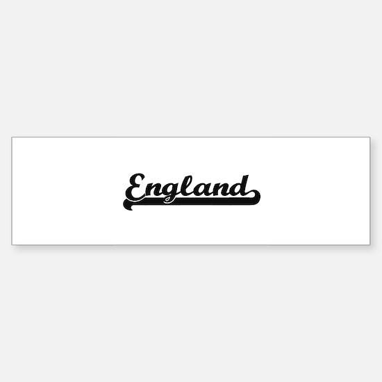 England Classic Retro Design Bumper Bumper Bumper Sticker