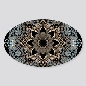 bohemian floral metallic ma Sticker