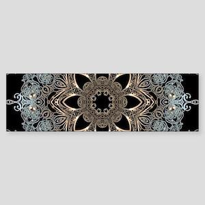 floral mandala hipster bohemian Bumper Sticker