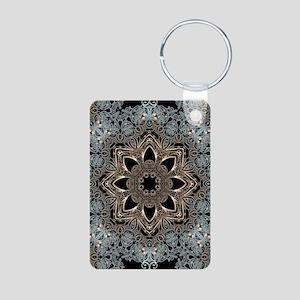 bohemian floral metallic mandala Keychains