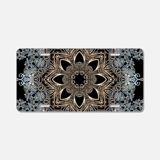 floral mandala hipster bohe Aluminum License Plate