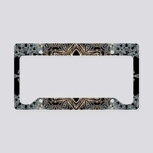 floral mandala hipster bohemi License Plate Holder