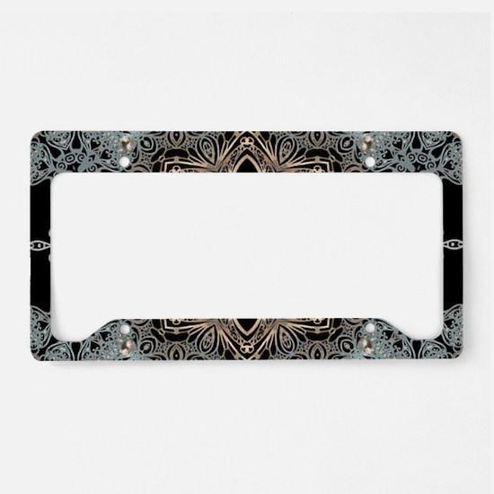 floral mandala hipster bohemi License Plate Holder