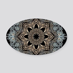 floral mandala hipster bohemian Oval Car Magnet
