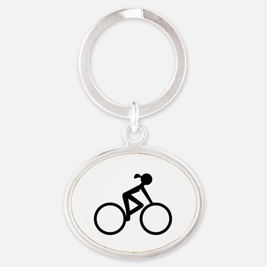 Cycle Chic Oval Keychain
