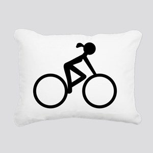 Cycle Chic Rectangular Canvas Pillow