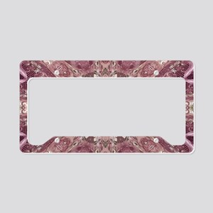 girly pink lace mandala flora License Plate Holder