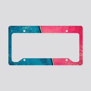 Abstract Grunge License Plate Holder
