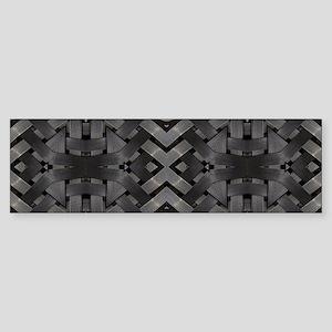 abstract pattern grunge industrial Bumper Sticker