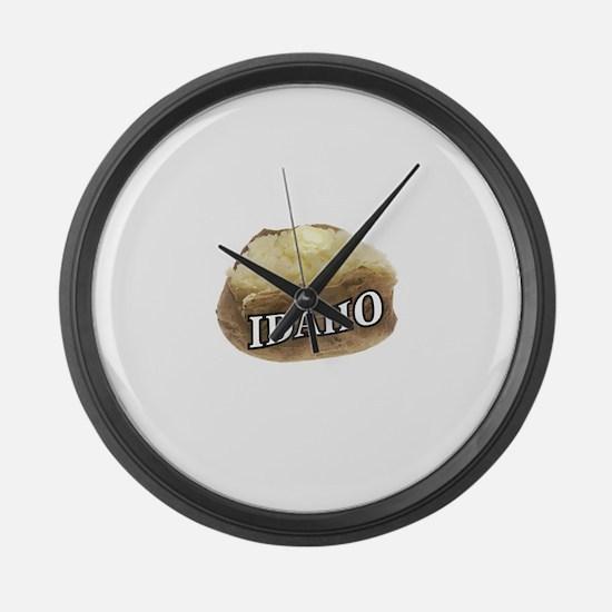 baked potato Idaho Large Wall Clock