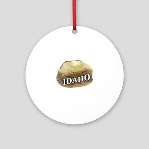 baked potato Idaho Round Ornament