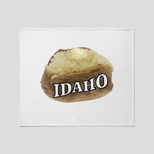 baked potato Idaho Throw Blanket