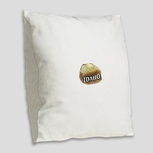 baked potato Idaho Burlap Throw Pillow