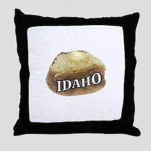 baked potato Idaho Throw Pillow