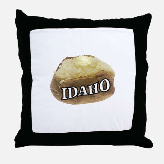 baked potato Idaho Throw Pillow