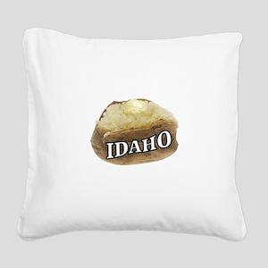 baked potato Idaho Square Canvas Pillow